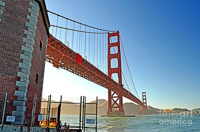 Photograph - A View Of The Golden Gate Bridge From Fort Mason by Jim Fitzpatrick
