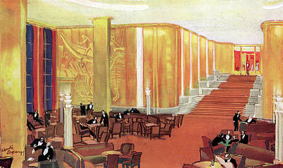 A View Of The Luxurious And Spacious Art Print by Mary Evans Picture Library
