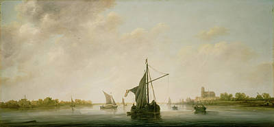 Maas Wall Art - Painting - A View Of The Maas At Dordrecht Aelbert Cuyp by Litz Collection