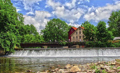 Print featuring the photograph A View Of The Mill From The River by Debra Fedchin