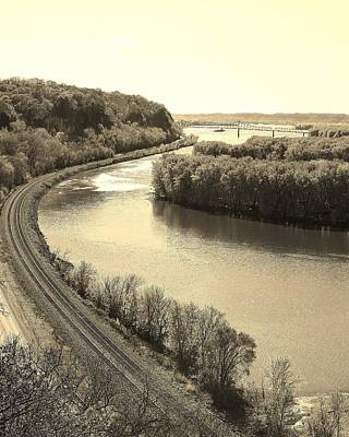 Photograph - A View Of The Mississippi River by Bruce Bley