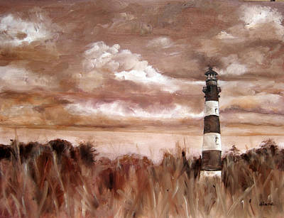 Diane Kraudelt Painting - A View Of The Outer Banks by Diane Kraudelt