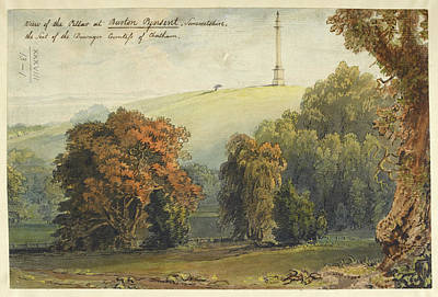 A View Of The Pillar At Burton Pynsent Art Print