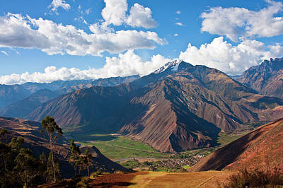 A View Of The Sacred Valley And Andes Art Print by Miva Stock