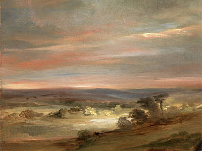 Hampstead Painting - A View On Hampstead Heath, Early Morning A View by Litz Collection