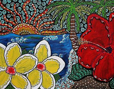 Painting - A View Through An Island Paradise by Kelly Nicodemus-Miller
