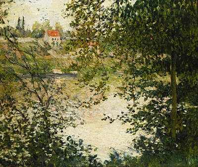 A View Through The Trees Of La Grande Jatte Island Art Print by Claude Monet