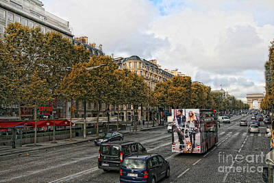 Photograph - A View To The Arc Of Triomphe by Gina Cormier