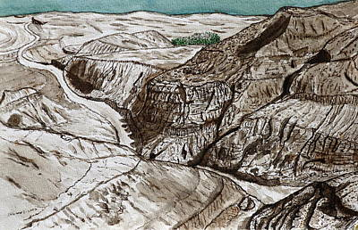 a view to the Dead Sea. Art Print