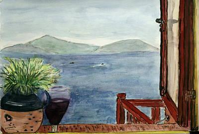 A View To The Mediterranean Sea. Art Print