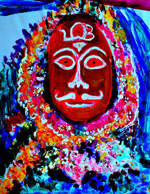 Painting - A Village Deity-2 by Anand Swaroop Manchiraju