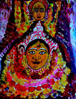 Painting - A Village Deity-3 by Anand Swaroop Manchiraju