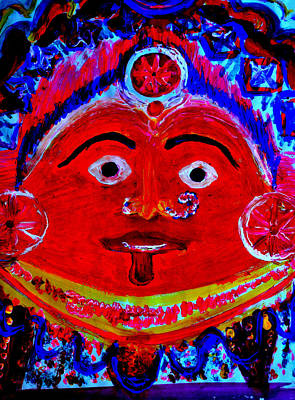 Painting - A Village Deity-5 by Anand Swaroop Manchiraju