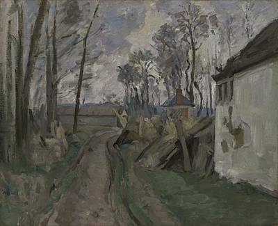 Rural Landscapes Painting - A Village Road Near Auvers, 1872-73 by Paul Cezanne