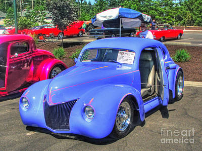 Photograph - A Vintage Blue Beauty by Chris Anderson
