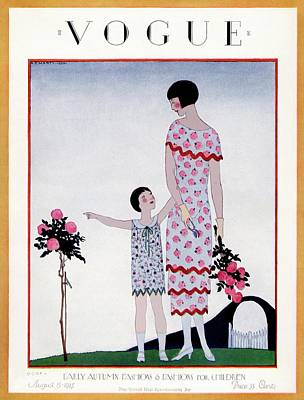 A Vintage Vogue Magazine Cover Of A Child Art Print by Andre E.  Marty