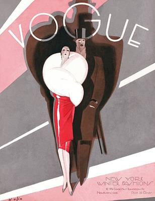 Photograph - A Vintage Vogue Magazine Cover Of A Couple by William Bolin