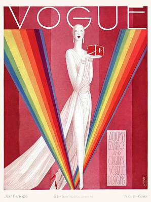 Rainbow Colors Photograph - A Vintage Vogue Magazine Cover Of A Mannequin by Eduardo Garcia Benito