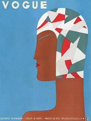 Photograph - A Vintage Vogue Magazine Cover Of An African by Eduardo Garcia Benito