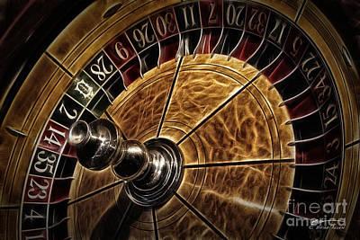 Art Print featuring the photograph A Virginia City Roulette Wheel by Brad Allen Fine Art