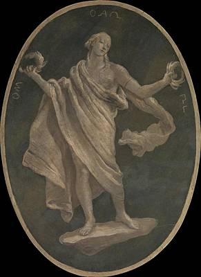 Grisaille Painting - A Virtue, Possibly Patriotism by Workshop of Giovanni Battista Tiepolo