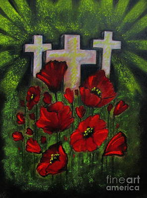 Memorial Day Drawing - A Vision Of Flanders by Catherine Howley