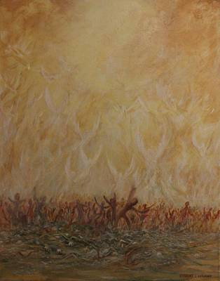 Ezekiel Painting - A Vision by Robert Wright