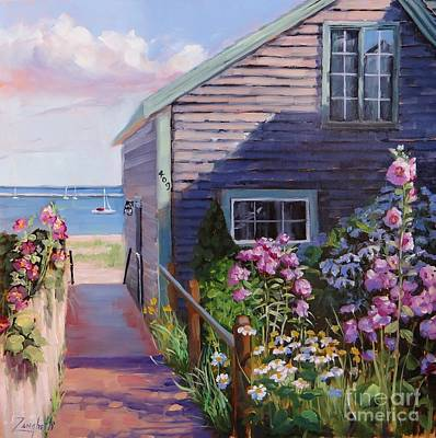 Shore Painting - A Visit To P Town Two by Laura Lee Zanghetti