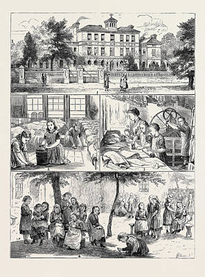 A Visit To The National Orphan Home, Ham Common Art Print