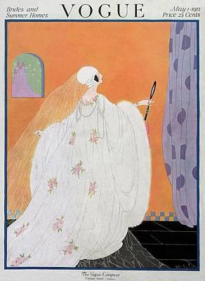 Photograph - A Vogue Cover Of A Bride by Helen Dryden