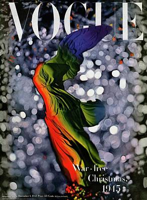 Photograph - A Vogue Cover Of A Colorful Victory Statue by Erwin Blumenfeld