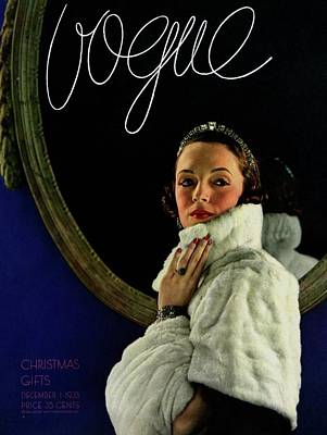 Tate Photograph - A Vogue Cover Of A Model Wearing A Cape And Muff by Edward Steichen