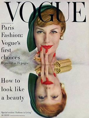 1950s Fashion Photograph - A Vogue Cover Of Mary Jane Russell by John Rawlings