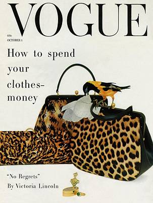 1950s Fashion Photograph - A Vogue Cover Of Nettie Rosenstein Handbags by Richard Rutledge