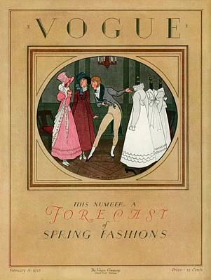 1920s Fashion Photograph - A Vogue Cover Of Women Shopping by Pierre Brissaud