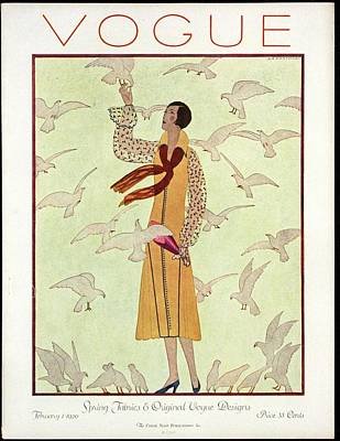 Photograph - A Vogue Magazine Cover From 1926 by Andre E.  Marty