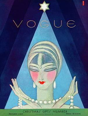 Fashion Photograph - A Vogue Magazine Cover Of A Wealthy Woman by Eduardo Garcia Benito