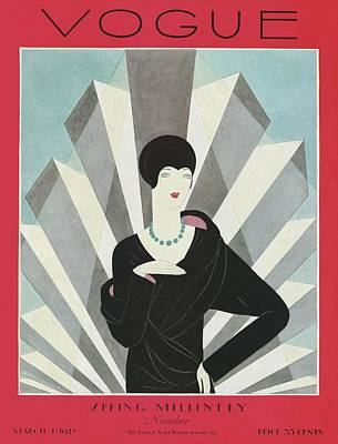 Film Photograph - A Vogue Magazine Cover Of A Wealthy Woman by Harriet Meserole