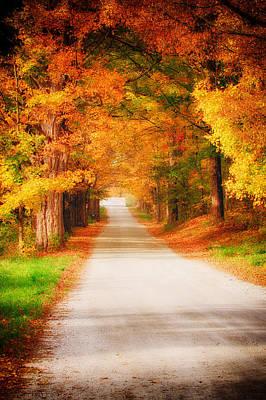 Photograph - A Walk Along The Golden Path by Jeff Folger