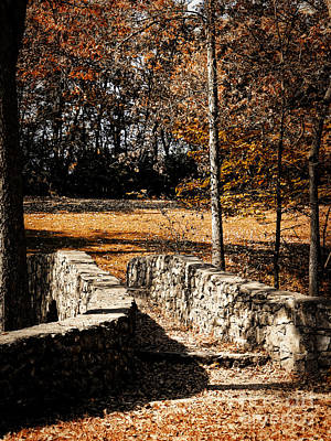 A Walk Along The Old Stone Path Art Print