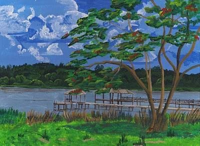 A Walk By Lake Clay Art Print