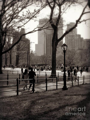 Photograph - A Walk In Central Park - Antique Appeal by Miriam Danar
