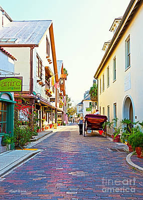 Sign In Florida Photograph - A Walk In St Augustine by Michelle Wiarda