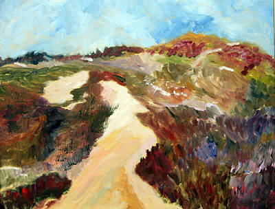Painting - A Walk In The Dunes by Michael Helfen