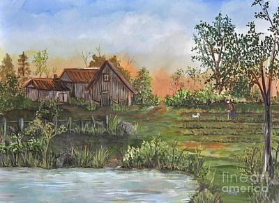 A Walk In The Garden Art Print by Reb Frost