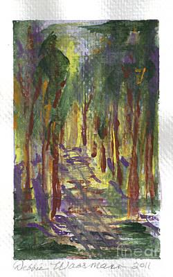 A Walk In The Park Art Print by Debbie Wassmann