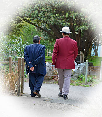 Hat Photograph - A Walk In The Park by Jim Fitzpatrick