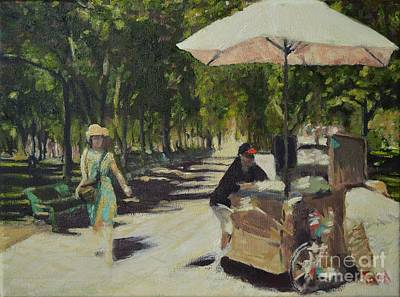 Painting - A Walk In The Park by Laura Toth