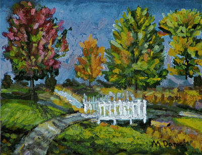 Art Print featuring the painting A Walk In The Park by Michael Daniels