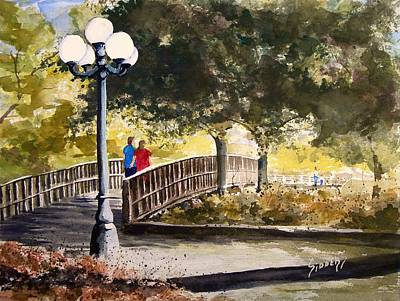 Parks Painting - A Walk In The Park by Sam Sidders